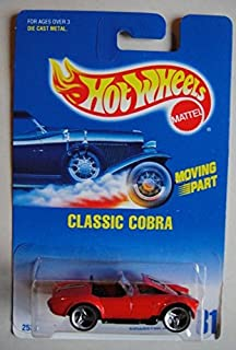 HOT WHEELS MOVING PART RED CLASSIC COBRA #31 3 SPOKE SQUARE CARD