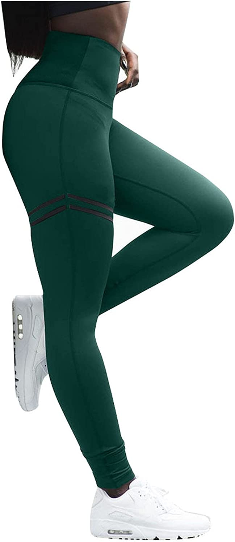 Auwer Women's Bootcut Yoga Pants with Pockets, High Waist Workout Bootleg Yoga Pants Tummy Control 4 Way Stretch Pants