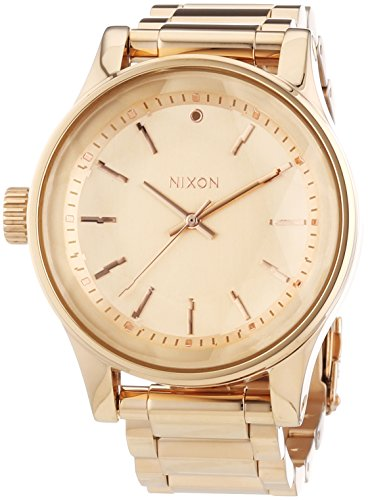 Nixon Damen-Armbanduhr Facet All Rose Gold Analog Quarz Edelstahl A384897-00