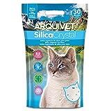 Arquivet Arena Gato Silica Crystal - Capacidad 3,8 L - Lecho higiénico para Gatos, felinos - Capacidad Absorbente - Ayuda a Eliminar olores y bacterias