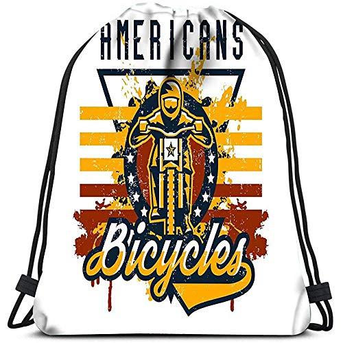 jenny-shop Mochilas con cordón Mochila Ciclista de Bicicleta de montaña Realizando Truco Bicicleta Mochilas de Viaje Cuesta Abajo