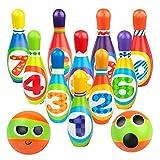 Regalo de Navidad para niños Bowling Juego Bolos 3+y Cars 3 Mini Juego De Boliche