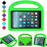 Kids Case for All-New Fire 7 2019/2017 - TIRIN Light Weight Shock Proof Handle KidProof Cover Kids Case for Amazon Fire 7 Tablet (9th/ 7th/ 5th Gen, 2019/2017/ 2015 Release)(7' Display), Green