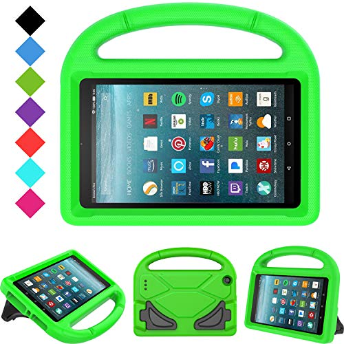 Kids Case for All-New Fire 7 2019/2017 - TIRIN Light Weight Shock Proof Handle Kid–Proof Cover Kids Case for Amazon Fire 7 Tablet (9th/ 7th/ 5th Gen, 2019/2017/ 2015 Release)(7' Display), Green