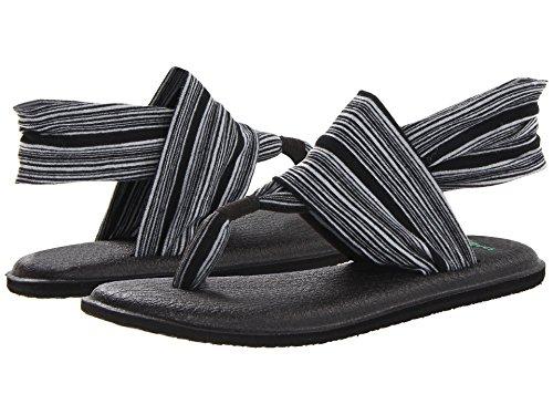 Sanuk - Eslinga de yoga para mujer, talla 7, color negro y blanco