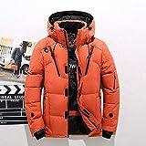HSXQQL Chaqueta de Plumas Thick Warm Winter Jacket Men Hooded Thicken Down Parka Coat...