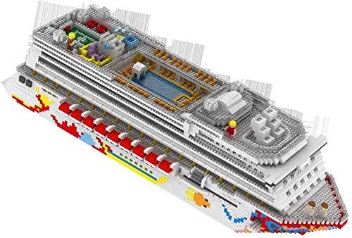 Zenghh 4950pcs micropartículas Building Blocks puzzle montado Asamblea del barco de cruceros del juguete de DIY 3D Inserción cúbico adulto Difícil diamante partículas Muñecas Modelo de gran tamaño gra