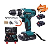 SeeKool 21V MAX Cordless Drill Driver Kit, 1650 /min Rechargeable Compact Electrical Drill