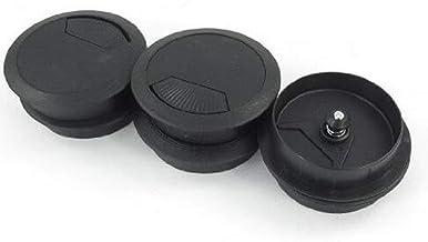IMIKEYA deksel gat kabeldoorvoer bureau PC kantoor 10 stuks diameter 50 mm (wit grijs) 6.5 * 2 cm zwart.