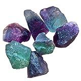 AITELEI Piedras de flúor a granel, cristales naturales crudos, piedras preciosas para cabina, corte, lapidario, golpes,pulido, envoltura de alambre, Wicca y Reiki curación de cristales