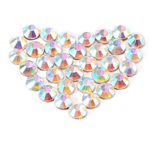 ULTNICE Strass Termoadesivi Cristallo Gemme Rotonde Diamante Resina Strass per Decorazioni Unghie Matrimonio Tessuti 4 mm 1440 Pezzi