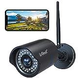 ieGeek Cámara de Vigilancia Exterior con Carcasa de Metal, Cámara de Seguridad WiFi 1080P, Visión Nocturna 25M, Impermeable IP66, Detección de Movimiento, Vista Remota con Teléfono/PC/Tableta