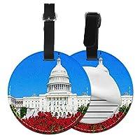 ネームタグ バッグ用ネームタグ アメリカ合衆国議会議事堂, ネームプレート スーツケース 紛失防止 旅行 出張 対応用 荷物タグ