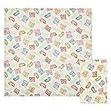 THUN - Set 2 Tovaglioli da Tavola, Decorati con Foglie e Farfalle - Accessori Cucina - Linea Farfalle in Festa - 100% Cotone - 42 x 42 cm