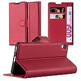 Cadorabo Funda Libro para Sony Xperia XA en Rojo CARMÍN - Cubierta Proteccíon con Cierre Magnético, Tarjetero y Función de Suporte - Etui Case Cover Carcasa