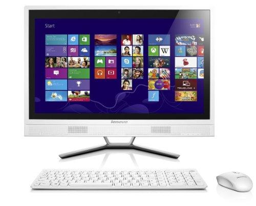 Lenovo C460 Ordinateur de bureau Tout-en-Un 21,5  (54,61 cm) Intel i3-4130T 2,9 GHz 1000 Go 4000 Mo Nvidia Geforce 705M 1G Blanc