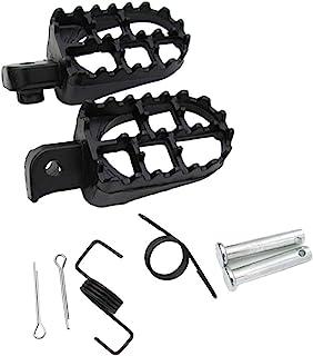 H HILABEE 1 Paar Aluminium Fußrasten Pedale Fußstütze für die meisten 50 125ccm Dirt Bike Pitbike, Rostfrei