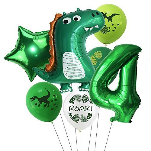 Haosell - Globo de dinosaurios para 4 años, diseño de dinosaurios verdes