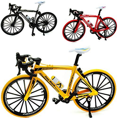 alles-meine.de GmbH 3 Stück _ große - Fahrräder / Bike - E-Bike - bunt - 18 cm - stabiles Metall - Modell Maßstab: 1:10 - Deko & Spielen - Dekofahrrad - für Kinder & Erwachsene /..