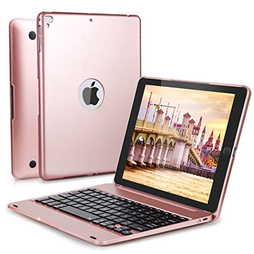 iPad Keyboard Case 9.7 inch for iPad 6th Generation(2018), iPad 5th Gen(2017), iPad Air 2 and 1, iPad Pro 9.7 inch, LAVO-TECH Wireless Bluetooth iPad Case with Keyboard Slim Full Protection Cover