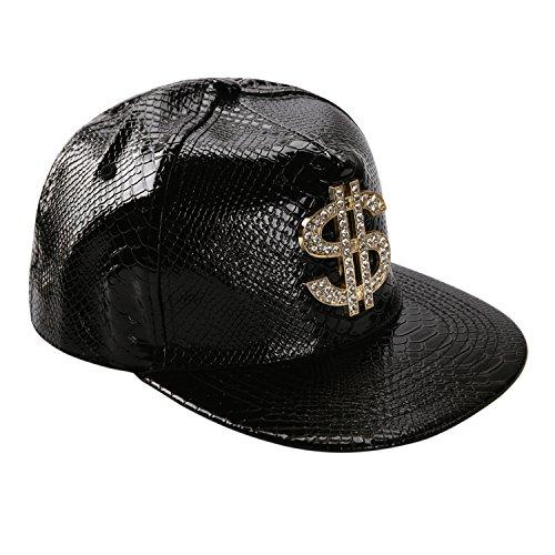 West See Unisex Baseball Caps Kappen Hut Snapback Partner-Cap Hip Hop Baseballmütze (Schwarz)