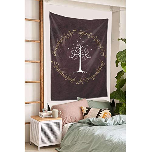 """Grtswp Lord Rings Red Background Tapestry, Wall Hanging Tapestries Europe Tapestry, Wall Decor for Dorm Bedroom Living Room 60""""x 40'"""
