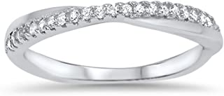 crossover pave ring