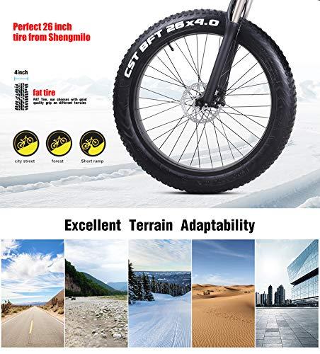 Shengmilo-MX01 1000W Electric Bicycle, Folding Mountain Bike, Fat Tire Ebike, 48V 12.8AH