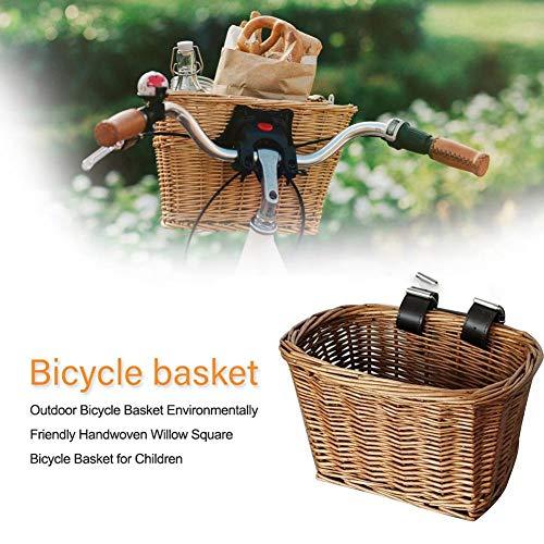 Eillybird Fietsmand vooraan stuurmand milieuvriendelijke handgeweven manden outdoor fietsmanden voor kinderen van rotan
