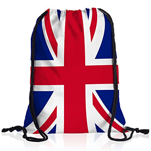 style3 England Turnbeutel Rucksack Tasche Great Britain Flagge WM EM Sport Beutel Festival Fahne Uni Schule Bunt