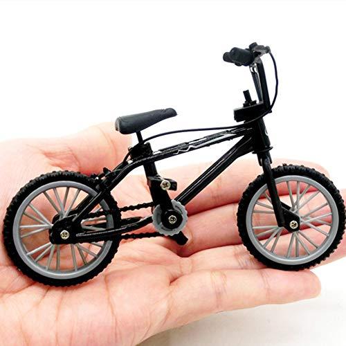 Catkoo Mini BMX Mountainbike Fahrrad Modell Kinder Spielzeug Geschenk Ornament Für 1/12 Puppenhaus, Perfektes Training Kinder Intelligenz, Entwickeln Gehirn Geschenke Schwarz