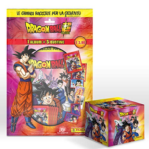 DRAGON BALL SUPER 2 sticker Collection Mega Starter Pack [Album + 5 Bustine omaggio + BOX DA 50 Bustine]