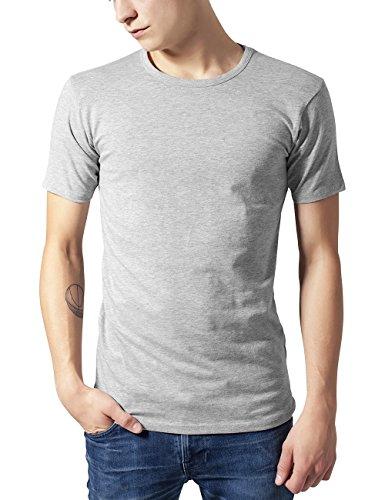 Urban Classics Urban Classics Herren Fitted Stretch Tee T-Shirt, Grau (Grey 111), XX-Large