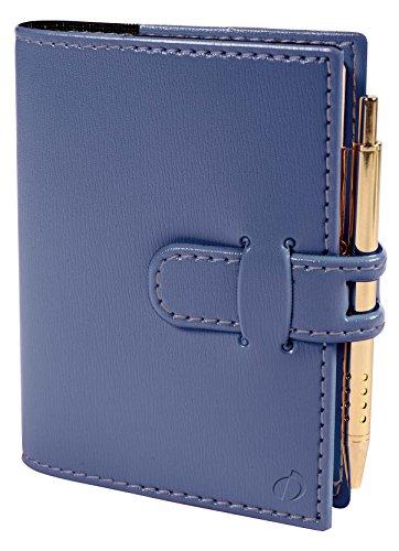 Quo Vadis 20927019MQ Miniday Kalender 2019 (7x10 cm, 1 Tag pro Seite, mehrsprachig, elfenbeinfarbenes Papier, Fadenbindung, Adressverzeichnis) 1 Stück schieferblau