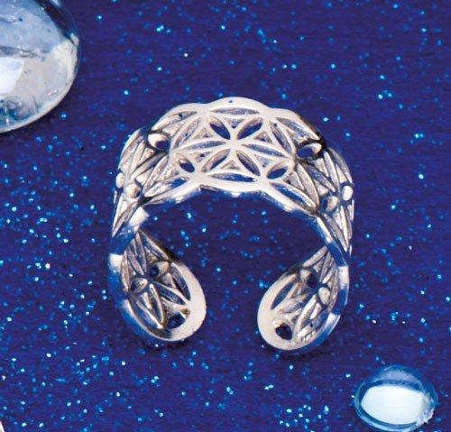 Ring Blume des Lebens - 925er Silber