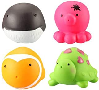 YTHXJP Infant Children Bath Toys, Water Spray Animal Toys, Environmentally Friendly Materials, Soft ( Color : Multi-colored )