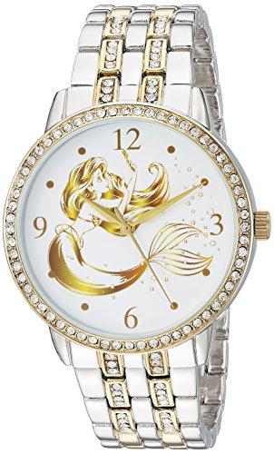 DISNEY Women's Princess Ariel Analog-Quartz Watch with Alloy Strap, Two Tone, 20 (Model: WDS000230)