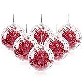 Mbuynow 20Pcs Bola de Navidad Adorno de DIY Transparente Bolas Vacío Rellenable Plástica - Tamaño 20X 100mm (10CM)