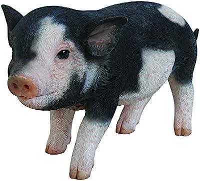 "Hi-Line Gift Ltd Dark Brown Standing Baby Pig, 5"""