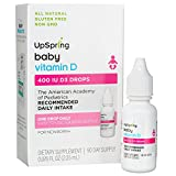 UpSpring Baby Vitamin D3 Drops for Infants, Concentrated Dye-Free D3...