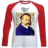Photo de teesquare1st Men's Edward Elgar Composer T-Shirt à Manches Longues pour Homme Size Medium par