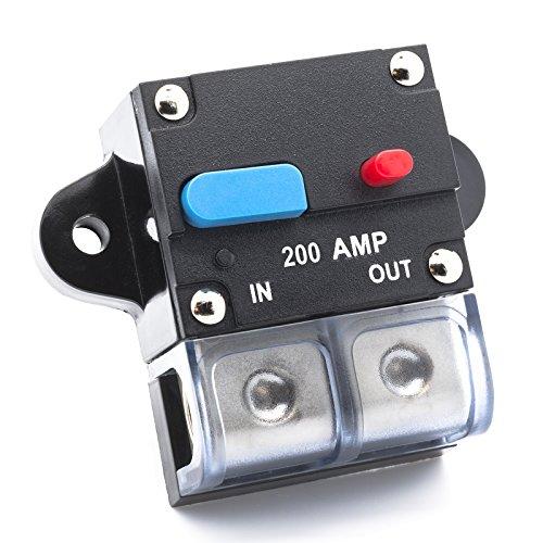 Adapter Universe Fusible automatique avec interrupteur 100 A ~ 300 A 12 V/24 V Protection contre les projections d'eau Convient pour voiture, bateau, moto, etc.