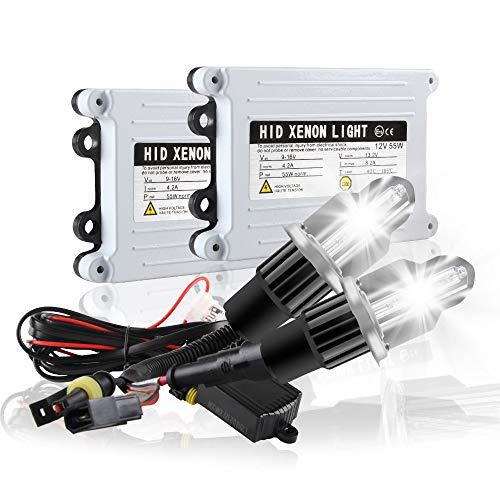 H4 9003 HB2 HID Xenon Headlight Conversion Kit 6000K Xenon White 55W Slim Digital HID Ballast For Car High Low Beam Headlight Lights