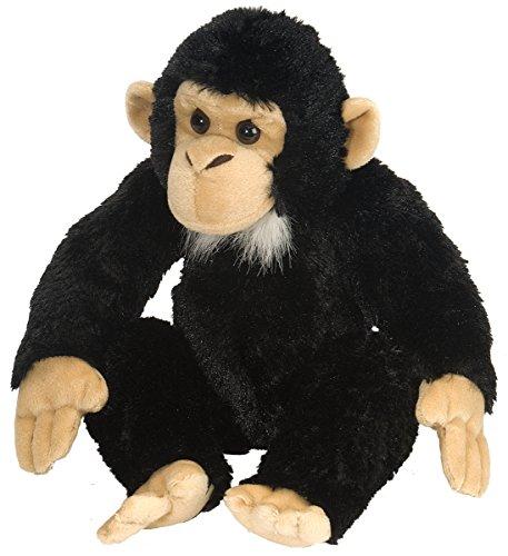 Wild Republic 15310 Republic 16521 Chimpancé de Peluches Plüsch Schimpanse, Cuddlekins Kuscheltier, Plüschtier, 30 cm