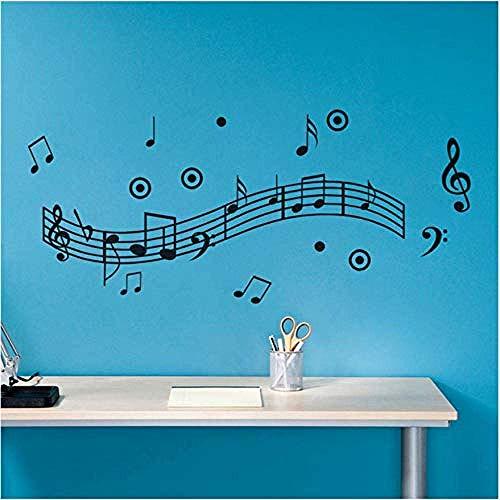Adhesivos De Pared Música Adhesivos De Pared Wind Dance Música Partituras De Música Adhesivos De Pared Decoración Del Hogar Tienda De Música Aula Moda Diy 61X140Cm