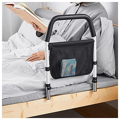 LY1 Barandilla de Seguridad para Cama con barandilla de Seguridad Plegable con Organizador, barandilla de Noche de Acero Inoxidable para Ayudar a Ancianos Embarazadas discapacitadas