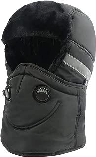Winter Trapper Trooper Hat Ushanka with Earflaps Face Mask Windproof Waterproof Ski Hat Men Women