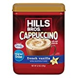 Hills Bros. Instant Cappuccino Mix, Sugar-Free French Vanilla Cappuccino Mix-Easy to Use, Enjoy...