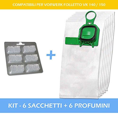 Confezione da 5 Miele s711 in Microfibra Sacchetti Per Aspirapolvere