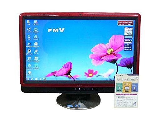 富士通 デスクトップパソコン 中古パソコン FH550/3BD レッド デスクトップ 一体型 本体 Windows7 Core i3 ブルーレイ 地デジ/BS/CS 4GB/1TB